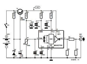 2.5-GHz Signal Source Schematic Diagram