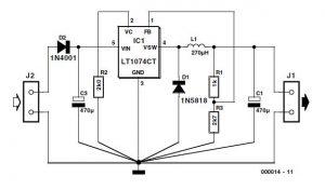3-volts Car Adapter Schematic Circuit Diagram