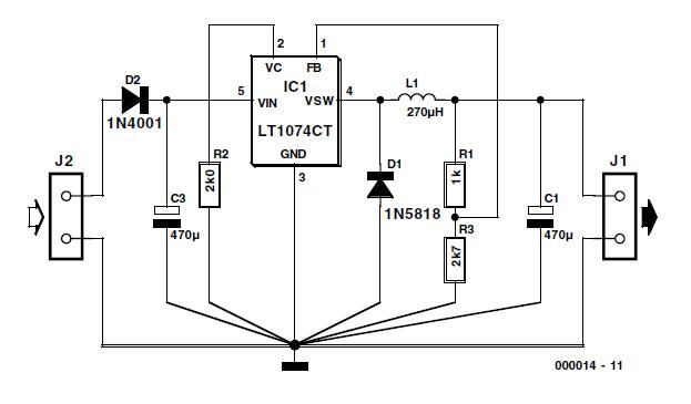 3 Volts Car Adapter Schematic Circuit Diagram
