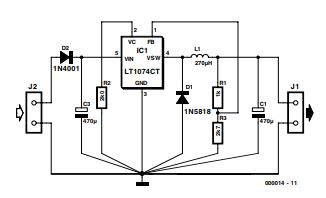 3-volts Car Adapter Schematic Diagram