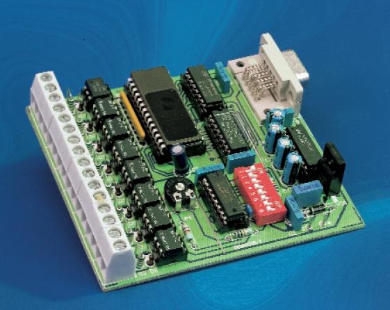 8 Channel D/I Card for RS232 Schematic Circuit Diagram