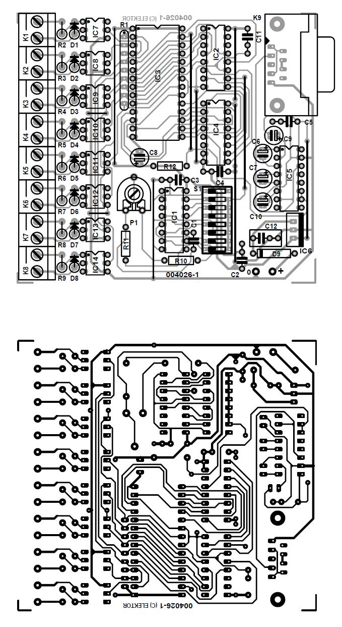 8 Channel D I Card For Rs232 Schematic Circuit Diagram 7805 Pin 3
