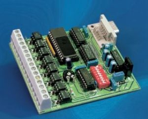 8 Channel D or I Card for RS232 Schematic