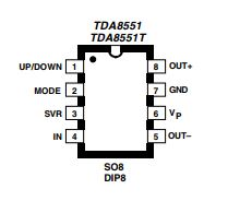 AF Amplifier with Up Down Volume Setting Schematic Diagram 1