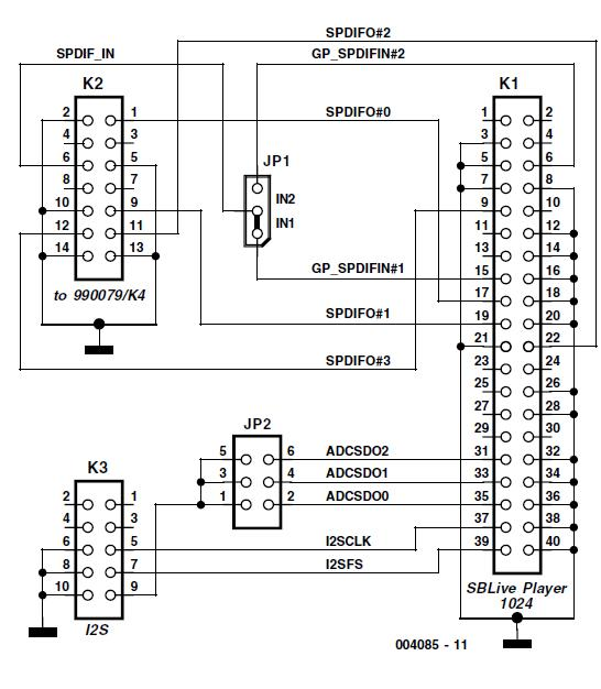 Adapter for SB Live! Player 1024 Schematic Circuit Diagram 3
