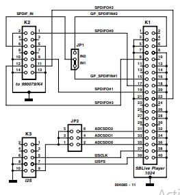 Adapter for SB Live! Player 1024 Schematic Diagram 2
