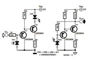 Analogue Optical Coupler Schematic Diagram