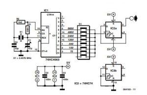 Baud Rate Generator Schematic Diagram