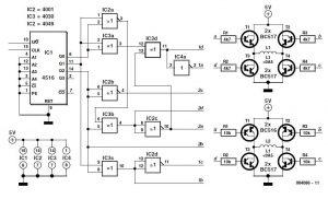 Bipolar Stepper Motor Control Schematic Circuit Diagram 1