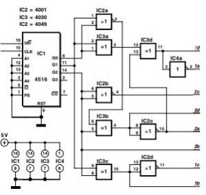 Bipolar Stepper Motor Control Schematic Diagram 1