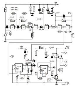 Clap Activated Switch Schematic Diagram