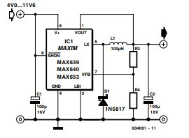 Compact Switching Step-Down Converter Schematic Diagram