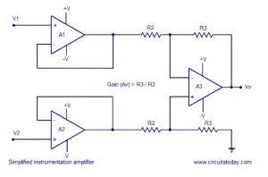 ECG amplifier circuit using ic 741 Schematic Diagram 2