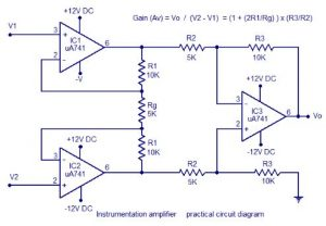 ECG amplifier circuit using ic 741 Schematic Diagram 3