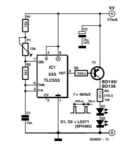 Infra-Red Light Barrier Schematic Diagram