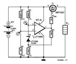 Li-Ion Protection Circuit Schematic Diagram