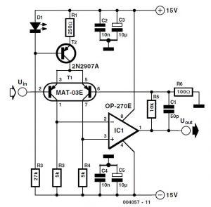 Low-Noise Microphone Amplifier Schematic Circuit Diagram