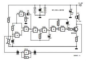 Noise-Driven Sound Generator Schematic Diagram