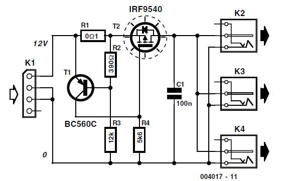 PC 12-V Adapter Schematic Circuit Diagram