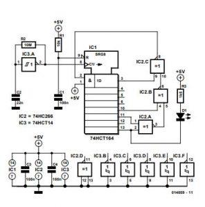 Random Flashing LED Schematic Diagram
