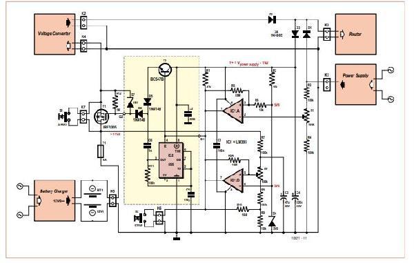 Router Ups Schematic Diagram