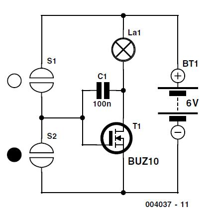 Simple Touch Pad Dimmer Schematic Circuit Diagram