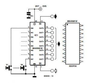Single-Chip Switch Debouncer Schematic Diagram 3