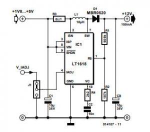 Step-up Switching Regulator Schematic Diagram 1