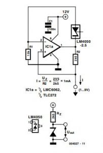 Voltage Reference for Battery Powered Circuits Schematic Diagram