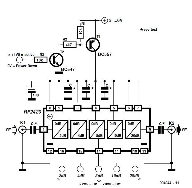 10 to 1000 mhz oscillator schematic circuit diagram