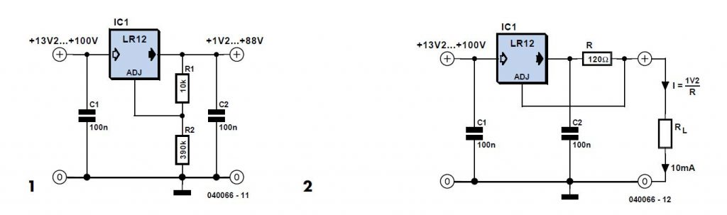 100 V Regulators Schematic Circuit Diagram