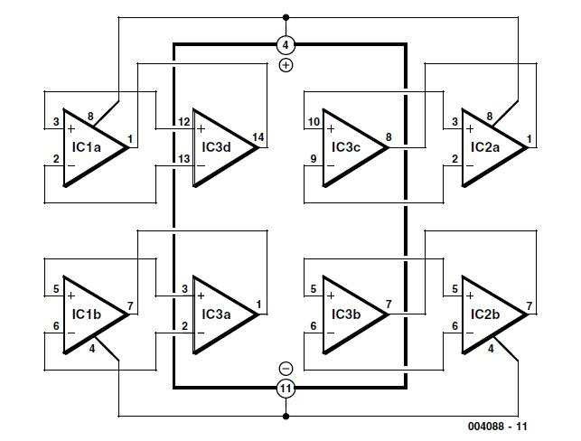 2 × Dual = 1 × Quad Schematic Circuit Diagram