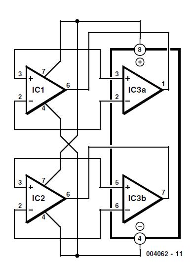 2 × single = 1 × dual Schematic Circuit Diagram