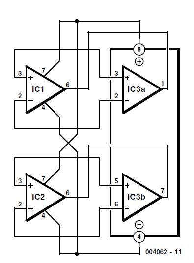2 × single = 1 × dual schematic circuit diagram 1