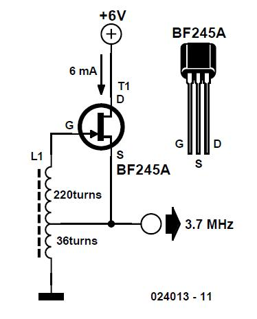 2-component Hartley Oscillator Schematic Circuit Diagram