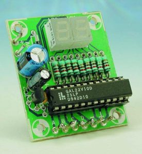 4-Bit Decimal Display Schematic Circuit Diagram 1