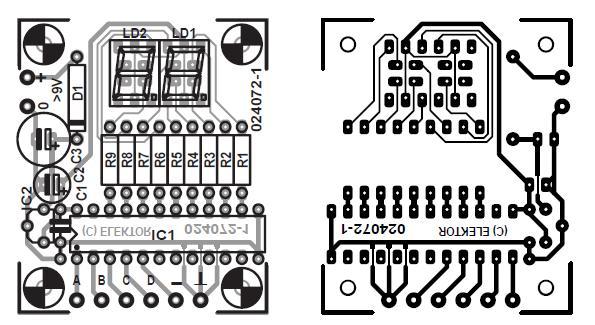 4-Bit Decimal Display Schematic Circuit Diagram 4