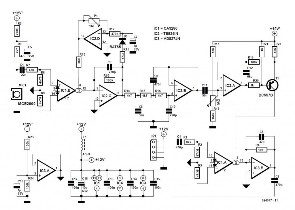 AM modulator for Intercom Schematic Circuit Diagram