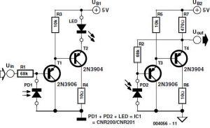 Analogue Optical Coupler Schematic Circuit Diagram