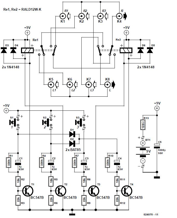 Audio Switchbox Schematic Circuit Diagram