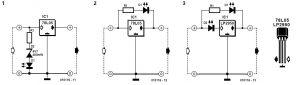 Battery Voltage LED Schematic Circuit Diagram