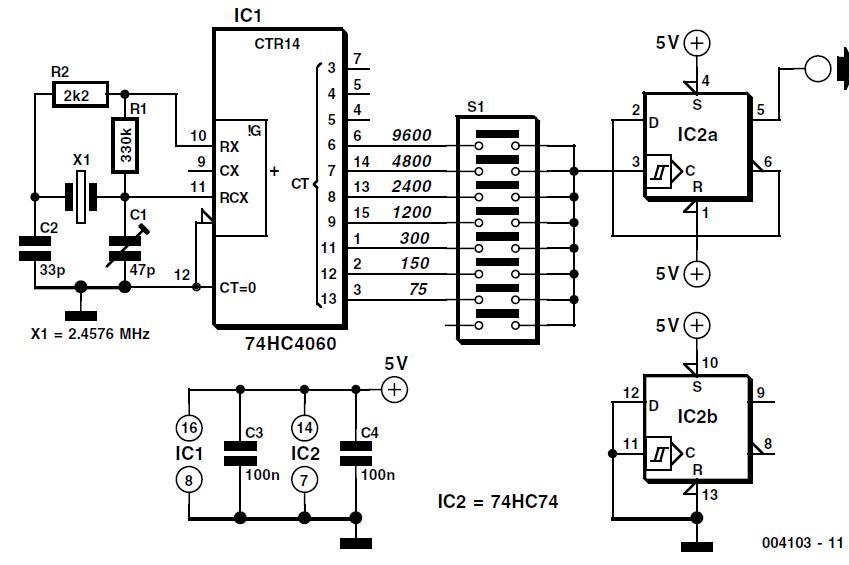 Baud Rate Generator Schematic Circuit Diagram