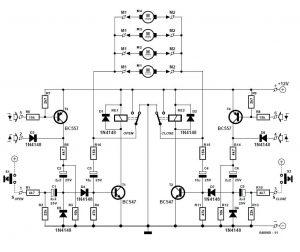 Car Central-Locking System Schematic Circuit Diagram 1