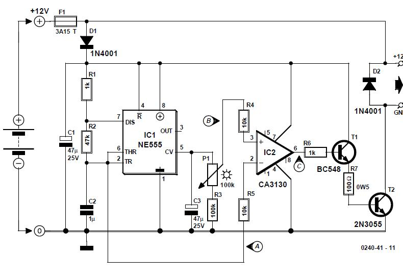 Direct Current Dimmer Schematic Circuit Diagram 1