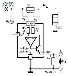 High-Side Current Measurements Schematic Circuit Diagram