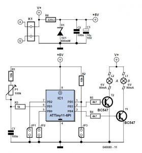 Intelligent Flickering Light Schematic Circuit Diagram