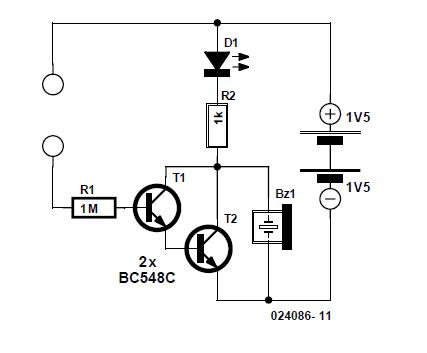 LED Voltage Tester Schematic Circuit Diagram