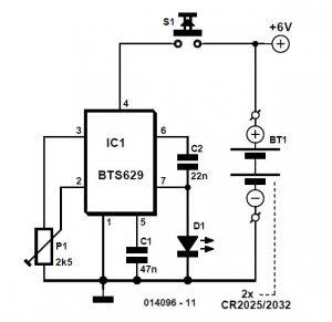 Lithium Torch Schematic Circuit Diagram 1