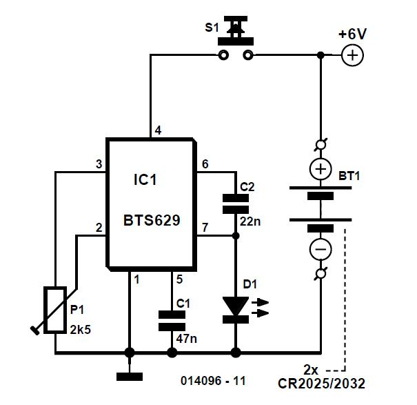 Lithium Torch Schematic Circuit Diagram