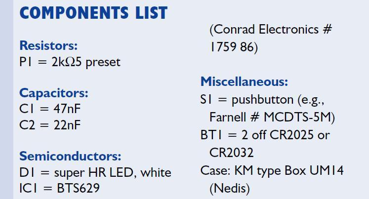 Lithium Torch Schematic Circuit Diagram Components List